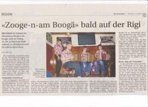 Radiosendung Zooge-n-am Boogä auf Rigi Kulm