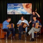 Hans Gerber, René Degoumois und Peter Holdener mit Michi am Bass